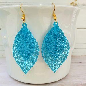 3/$25 Dangle Drop Double  Leaf  Bohemian Earrings